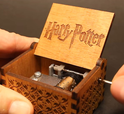 Harry Potter Engraved Wooden Hand-cranked Music Box Theme Collectible Toys Gifts
