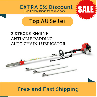 62CC Pole Chainsaw Petrol Chain Saw Brush Cutter Brushcutter Tree Pruner Trimmer
