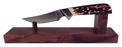 Walnut Wooden Knife Stand Display for Hunting Pocket or Collectible Knives