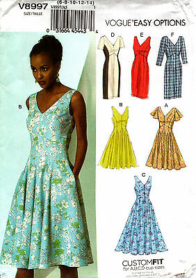 Vogue Sewing Pattern V8997 8997 Ladies Dress Size 6-14 or 14-22 NEW