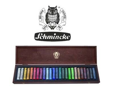 Schmincke Artists Soft Pastels Set of 25 Assorted Colours Full Stick Wooden Box