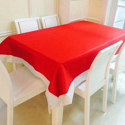 Christmas Red Tablecover Table Cover Cloth Skirts Xmas Home Restaurant XMAS HE7