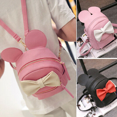 Mini Backpack For Girls Cute Mouse Ear Bag Women Travel Leather Backpack FASHION
