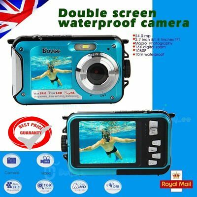 "24MP 2.7"" Double Screen Waterproof Camera Full HD 16x Digital Zoom Dive Camera"