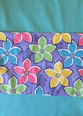 Flowers on teal school chair bag free first name free postage