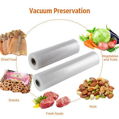 2/4/6 Rolls 20cm/28cm Textured Vacuum Food Sealer Vac Storage Bags Roll For Home