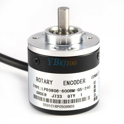600P/R Photoelectric Incremental Rotary Encoder 5V-24V AB 2-Phases Shaft 6mm