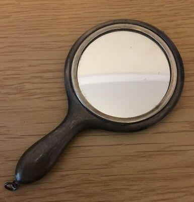 Antique Solid Silver Hand Mirror By Samual M. Levi