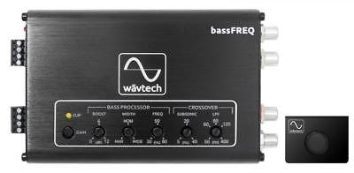 WavTech bassFREQ Bass Subwoofer Processor EQ Crossover & Level Remote