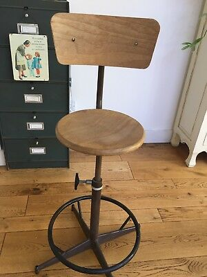 Vintage Lab Stools/ chair/ antique wood chair / French vintage