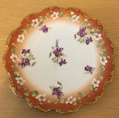 Antique Limoges Hand Painted Plate