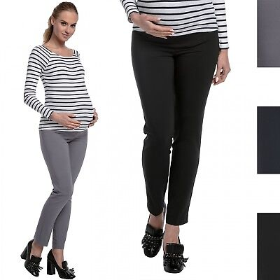 Happy Mama. Women's Maternity Smart Tailored Work Office Overbump Trousers. 206p