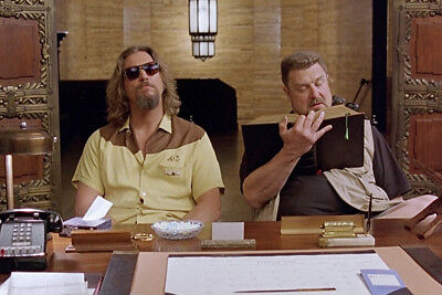 John Goodman Seated Ta Desk With Jeff Bridges The Big Lebowski 24X36 Poster