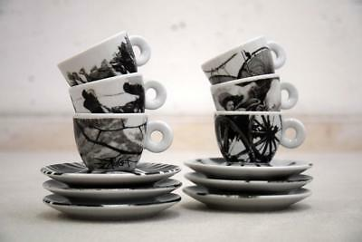 """Illy Collection Serie """"bus Stops"""" 1999  Design Pottorf Tazzine Espresso"""
