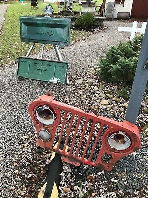 RARE VINTAGE JEEP TAILGATE EMBOSSED JEEP about 17 by 36 WILL SHIP (on top)