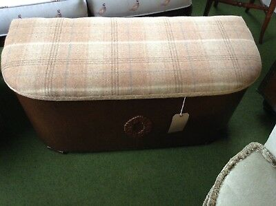 Storage Blanket Box/ Ottoman In Camel Tweed