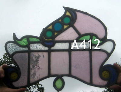 A412   Stained Glass window . Ca 1890s