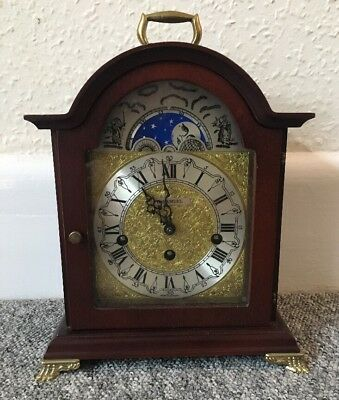 Moon Phase Franz Hermle Westminster Chime Mantle clock retailed by H. Samuel.