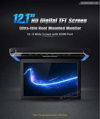 XTRONS CM121HD 12.1'' HD Digital TFT Screen Ultra-thin Roof Mounted Monitor hdmi