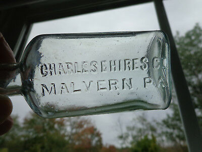 VTG 1880's CHARLES E HIRES CO, MALVERN, PA, BLOWN IN MOLD BOTTLE