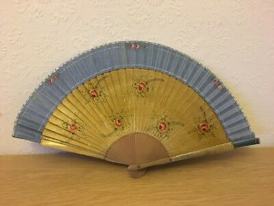 Antique Hand Painted Hand Fan