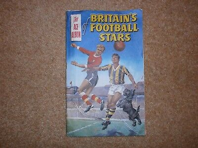 Vintage 1960s Rover comic free gift - The Ace album of Britain's football stars