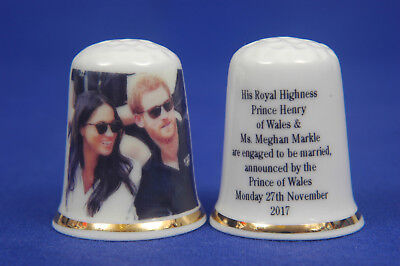Prince Harry & Meghan Engagement Announced 27th Nov.2017 Informal Thimble B/69