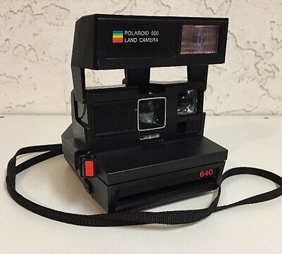 Vintage Polaroid 600 / 640 Series Rainbow Stripe Instant Land Camera