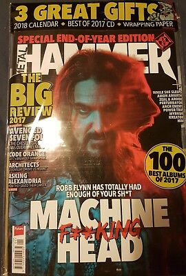 Metal Hammer Magazine January 2018 issue 304 with Free Gifts