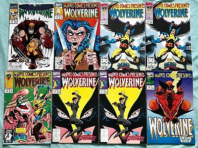 Lot Of 8 2 Story Book Wolverine & Ghost Rider Comics (Marvel,1991-1993) #92,93..