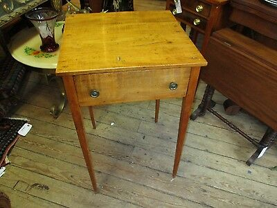 Antique Maple One Drawer Hepplewhite Stand