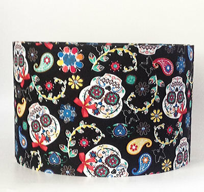 Day Of The Dead Sugar Skulls, Large Fabric Light Shade
