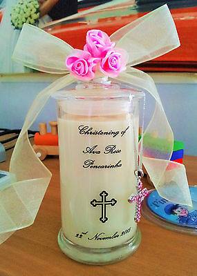 PERSONALISED CHRISTENING NAMING DAY BAPTISM WEDDING BIRTHDAY BABY  Candles