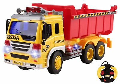 Remote Control Dump Truck RC Construction Full Function Vehicle Christmas Toy