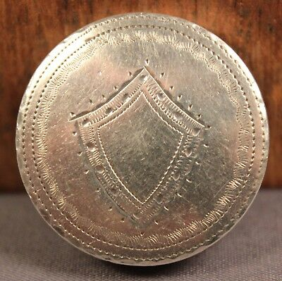 Superb 1791 SAMUEL PEMBERTON 18thC Antique Solid STERLING SILVER Pill Patch Box