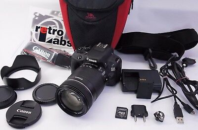 Canon EOS Rebel SL1 / EOS 100D 18.0MP Digital SLR Camera, Lens 18-135mm EF-S IS