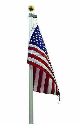 20 FT 3 Inch Butt Commercial Valley Forge Tapered Flag Pole Flagpole Kit TSRAFP