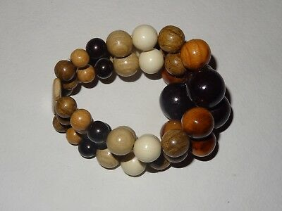 Wooden bracelet for arm balls health different woods