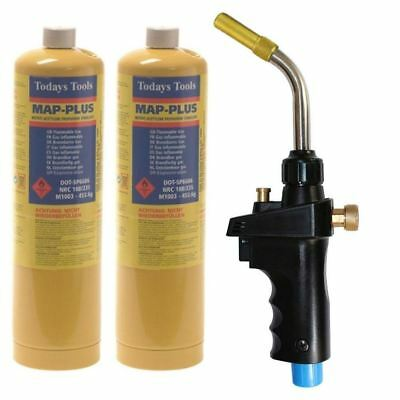 MAPP Hand Torch Self Igniting JH-6ST + 2 MAPP gas soldering brazing heat