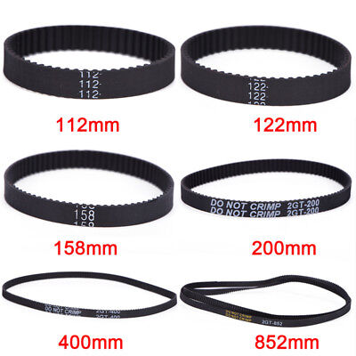 GT2 Ring Closed Loop Timing Belt Rubber 2GT 6mm 3D Printers Parts Belts Part FO