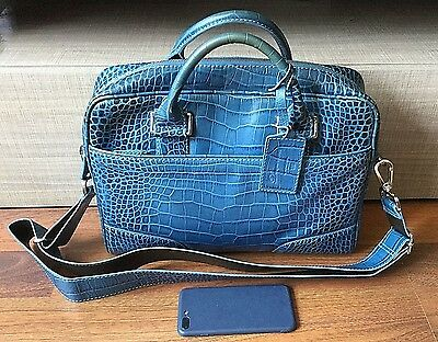 Lancel Paris Women's Shoulder Bag Leather Messenger Crocodile Solid