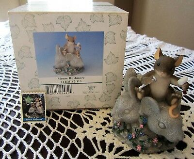 """Charming Tails """"MOUSE RUSHMORE"""" #82/115 Fitz & Floyd NIB McKenzie Mouse Figurine"""