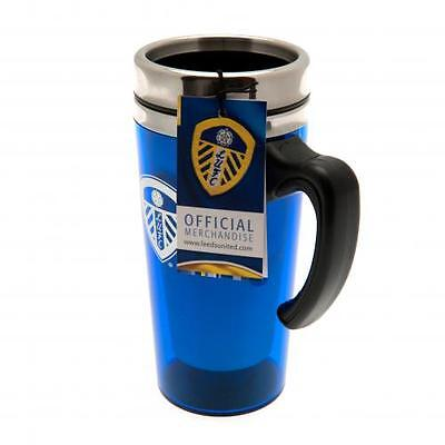 Leeds United FC Official Crested 450ml Aluminium Travel Mug Present Gift