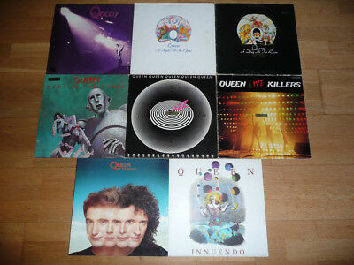 Queen 8 LP Sammlung FOC OIS First Miracle Innuendo Jazz Live Killers Opera Races