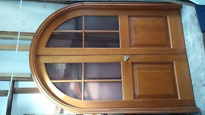 Arched Timber Double Doors With Doorway