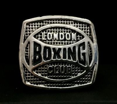 London Boxing Club Championship Ring England Silver Heavy Large British Trophy