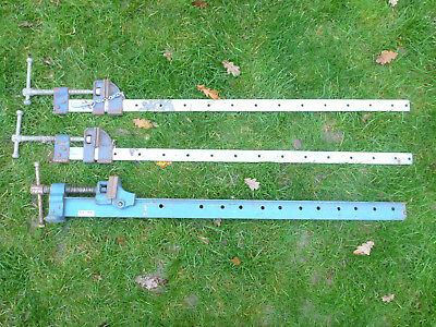 "3X Sash Clamps Vice Draper 1m 1 meter 3ft 900mm 36"" Woodworking Heavy Duty Set"