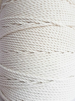 5 mm Cotton cord 200 m Macrame rope 13/64 in DIY rope Natural craft Macrame cord