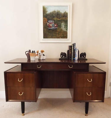 G Plan E Gomme desk 1960s Mid Century Modern mahogany furniture