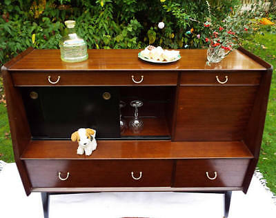 G Plan E Gomme cocktail cabinet 1960s Mid Century Modern mahogany sideboard